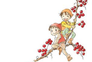 赤い実と小人の素材 [FYI00116770]