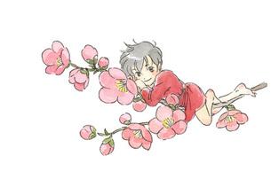 梅の花と小人の素材 [FYI00116772]
