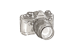 黒カメラの写真素材 [FYI00116776]