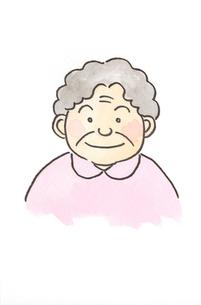 笑顔のお婆さんの素材 [FYI00116789]
