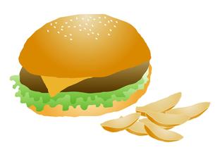ハンバーガーとポテトの写真素材 [FYI00116881]