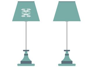 テーブルランプ(青)の写真素材 [FYI00116895]