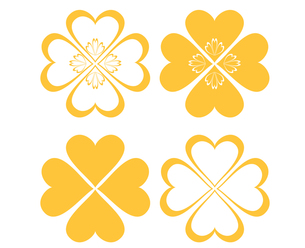 四つ葉のクローバー(黄色)の写真素材 [FYI00116900]