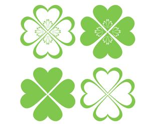 四つ葉のクローバー(緑)の写真素材 [FYI00116908]
