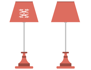 テーブルランプ(赤)の写真素材 [FYI00116911]
