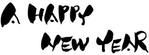 A HAPPY NEW YEARの写真素材 [FYI00117126]
