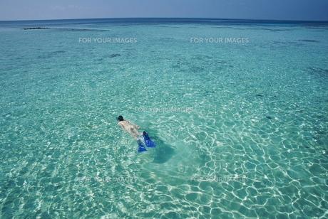 青いインド洋の写真素材 [FYI00117472]