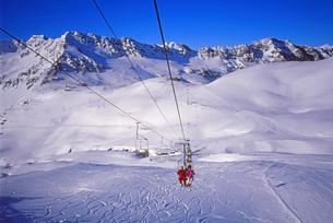 リフトから見たスキー場の景色の写真素材 [FYI00118146]