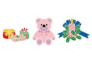 クリスマスプレゼントとキャンドルの写真素材 [FYI00118681]