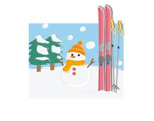 スキーの素材 [FYI00118730]