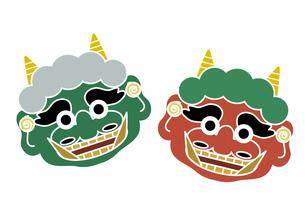 赤鬼と緑鬼の写真素材 [FYI00118751]