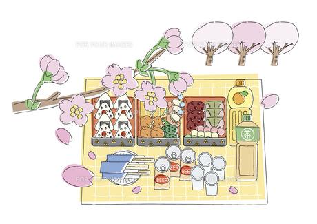 花見弁当の写真素材 [FYI00118844]