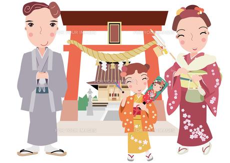 親子で初詣の素材 [FYI00118965]