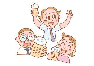 仕事終わりの楽しい飲み会の写真素材 [FYI00119037]