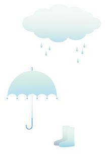 雨 傘 長靴の写真素材 [FYI00119813]
