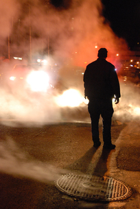 ニューヨークの警察官の写真素材 [FYI00119815]