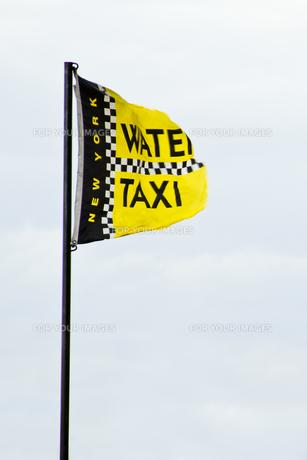 ウォータータクシーの旗の写真素材 [FYI00119863]