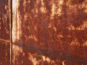 錆びた鉄板の写真素材 [FYI00120001]
