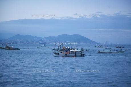 早朝の漁の写真素材 [FYI00120323]