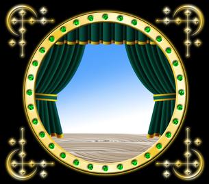 緑色のカーテンの写真素材 [FYI00120534]