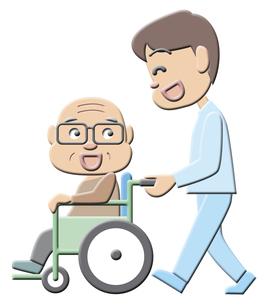 車椅子のおじいさんの写真素材 [FYI00120535]
