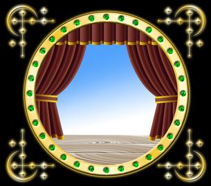赤いカーテンの舞台の写真素材 [FYI00120539]