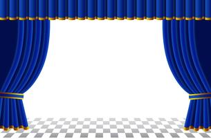 青いカーテンの写真素材 [FYI00120563]
