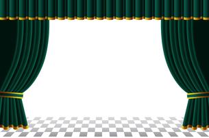 緑色のカーテンの素材 [FYI00120572]