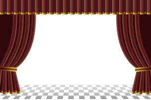 赤いカーテンの舞台の写真素材 [FYI00120574]