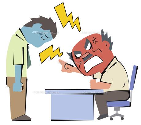 怒られる男性の写真素材 [FYI00120578]