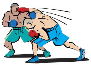 ボクシングカウンターパンチの写真素材 [FYI00120588]