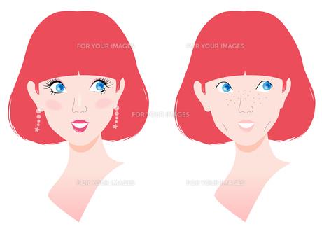 メイクでキレイに変わる女性の写真素材 [FYI00120601]