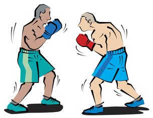 ボクシング試合開始の写真素材 [FYI00120604]