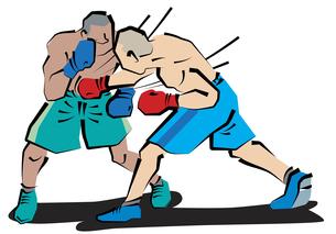 ボクシングボディブローの写真素材 [FYI00120605]
