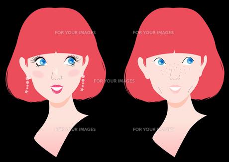 メイクでキレイに変わる女性の写真素材 [FYI00120607]