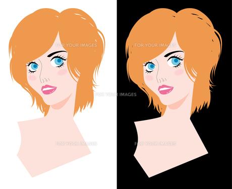 女性の顔の写真素材 [FYI00120608]