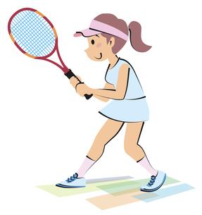 女子テニスの写真素材 [FYI00120628]