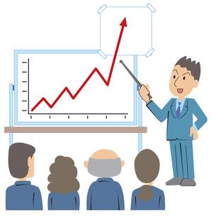 予想以上の成功グラフ の写真素材 [FYI00120638]