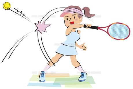 女子テニスの素材 [FYI00120642]