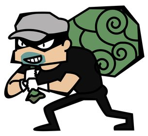 泥棒の写真素材 [FYI00120643]