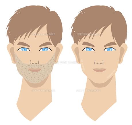 髭の男性とツルツルの男性の写真素材 [FYI00120697]