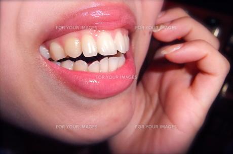 笑顔の口の写真素材 [FYI00121051]