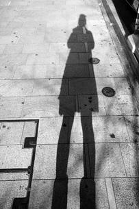 自分の影の写真素材 [FYI00121089]