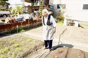 畑仕事のおばあちゃんの写真素材 [FYI00121118]
