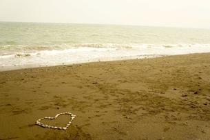 ハート 海の写真素材 [FYI00121134]