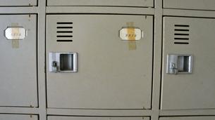 学校の靴箱の写真素材 [FYI00121135]