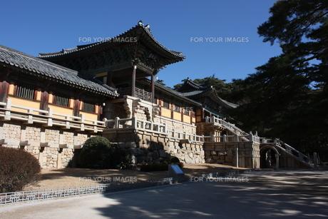 韓国・慶州 仏国寺の写真素材 [FYI00121182]