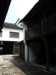 中国・浙江省 烏鎮の商家の写真素材 [FYI00121239]