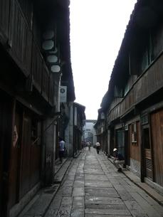 中国・浙江省 烏鎮老街の写真素材 [FYI00121244]