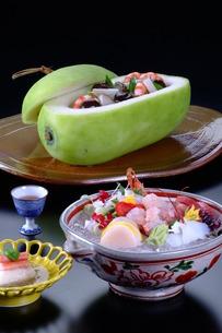 夏の料理 冷し鉢などの写真素材 [FYI00121285]